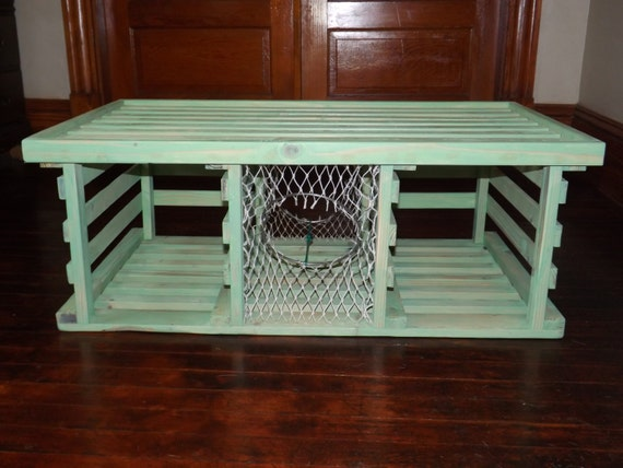 Handmade Wooden Lobster Trap Coffee Table Sea