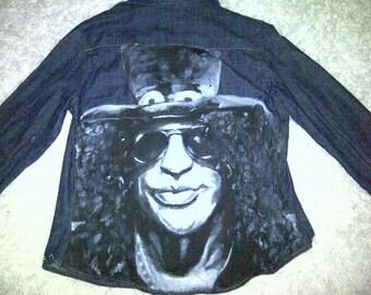 DISCOUNTED!!! Hand-Painted Slash Denim Shirt UK 8