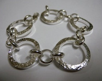 chunky textured 'loops of love' bracelet
