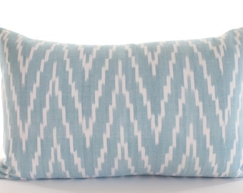 Schumacher KASARI IKAT Lumbar Pillow Cover in Turquoise, Accent Pillow, Toss Pillow, Throw Pillow, Decorative Pillow, Many Sizes