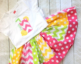 girls birthday outfit girls birthday skirt set lemonade outfit lemonade skirt set pink lemonade lemon lime limeade outfit chevron polka dot