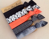 The Salmon Sophisticated Hair Tie - Ponytail Holder Collection by Elastic Hair Bandz on Etsy