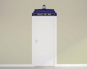 Doctor Who Tardis Call Box Door Topper Vinyl Wall Decal by Wall Jems Wall Decals