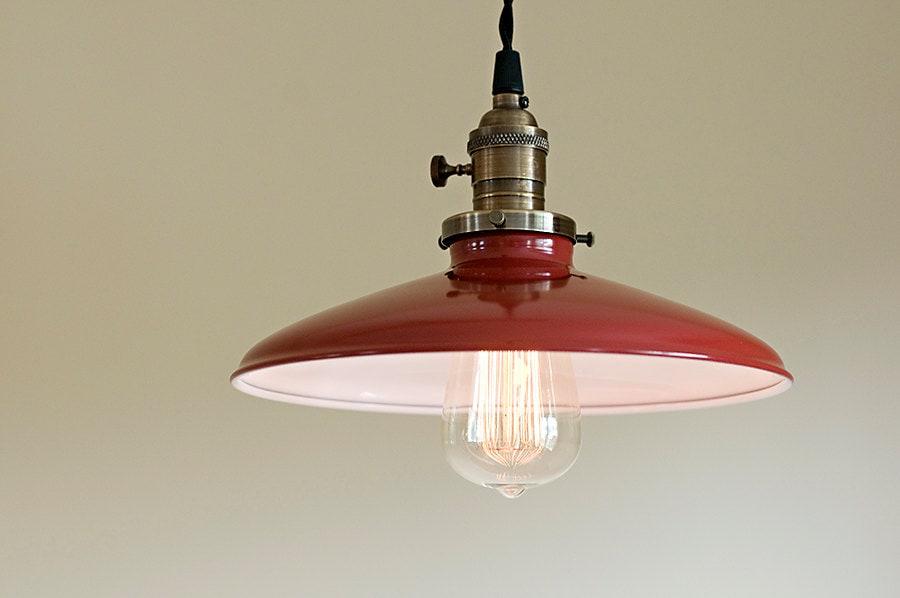 Style industriel mail rouge 10 pendentif luminaire - Suspension cuisine rouge ...