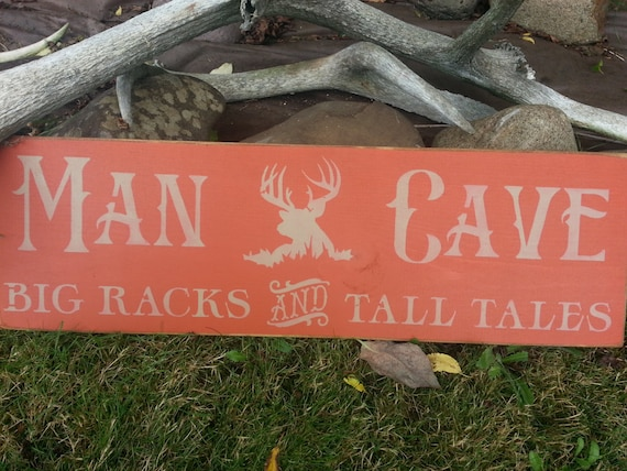 Etsy Caveman Signs : Items similar to man cave room decor hand painted wood