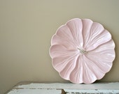 vintage tidbit tray: california pottery pink tray - DessineAToi