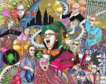 Elton John Print