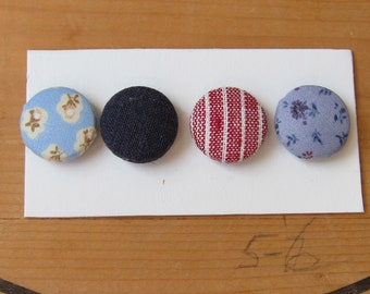 Fabric Button Magnets- Home or Office Decor