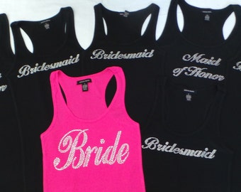 7 Bride Tank Top. Team Bride . Bachelorette Party. Maid of Honor. Bridesmaid. Matron of Honor. Wedding Bridal Party.