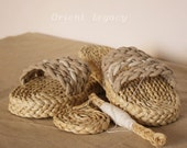 Orient Legacy Straw Beach Slippers Handmade Eco Friendly Slippers Customized Straw Sandals Shoes