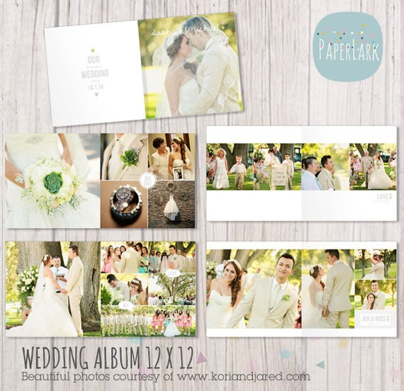 Wedding album template 12 x 12 and 10x10 inch by for Wedding photo album templates in photoshop