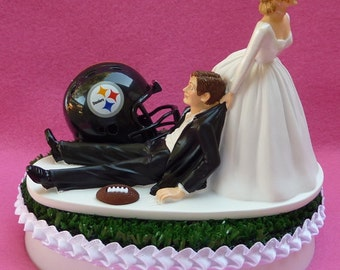 wedding cake topper baltimore ravens football themed ball and. Black Bedroom Furniture Sets. Home Design Ideas