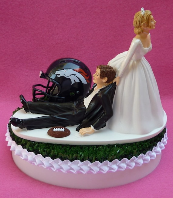 wedding cake toppers denver co wedding cake topper denver broncos football themed sports turf 26450