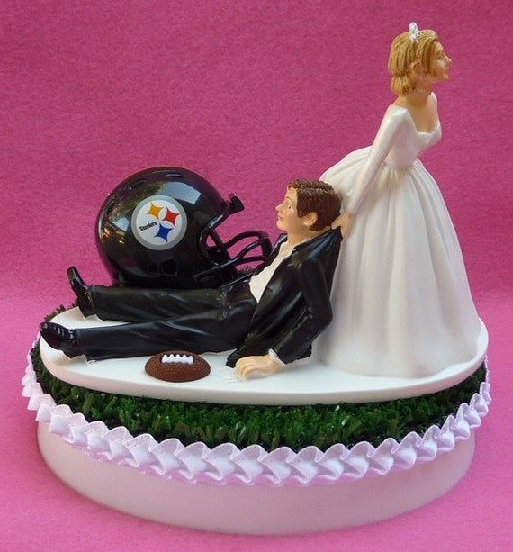 pittsburgh steelers wedding cake topper wedding cake topper pittsburgh steelers football themed sports 18624