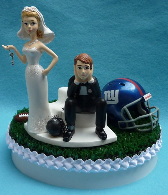 new york themed wedding cake toppers wedding cake topper new york giants ny football themed 17834