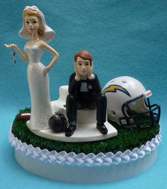wedding cake topper san jose wedding cake topper los angeles chargers la football themed 26378