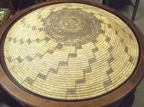 34 inch American Indian Basket Papago Tribe Arizona