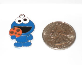 Cookie Monster Enamel Pendant Charm(s) Only