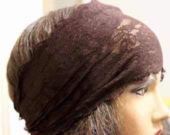 9 color Lace Headband - Brown lace headband - Hair Bands -  Boho  - hair accessories - headbands - hair care - turbans - lace headbands