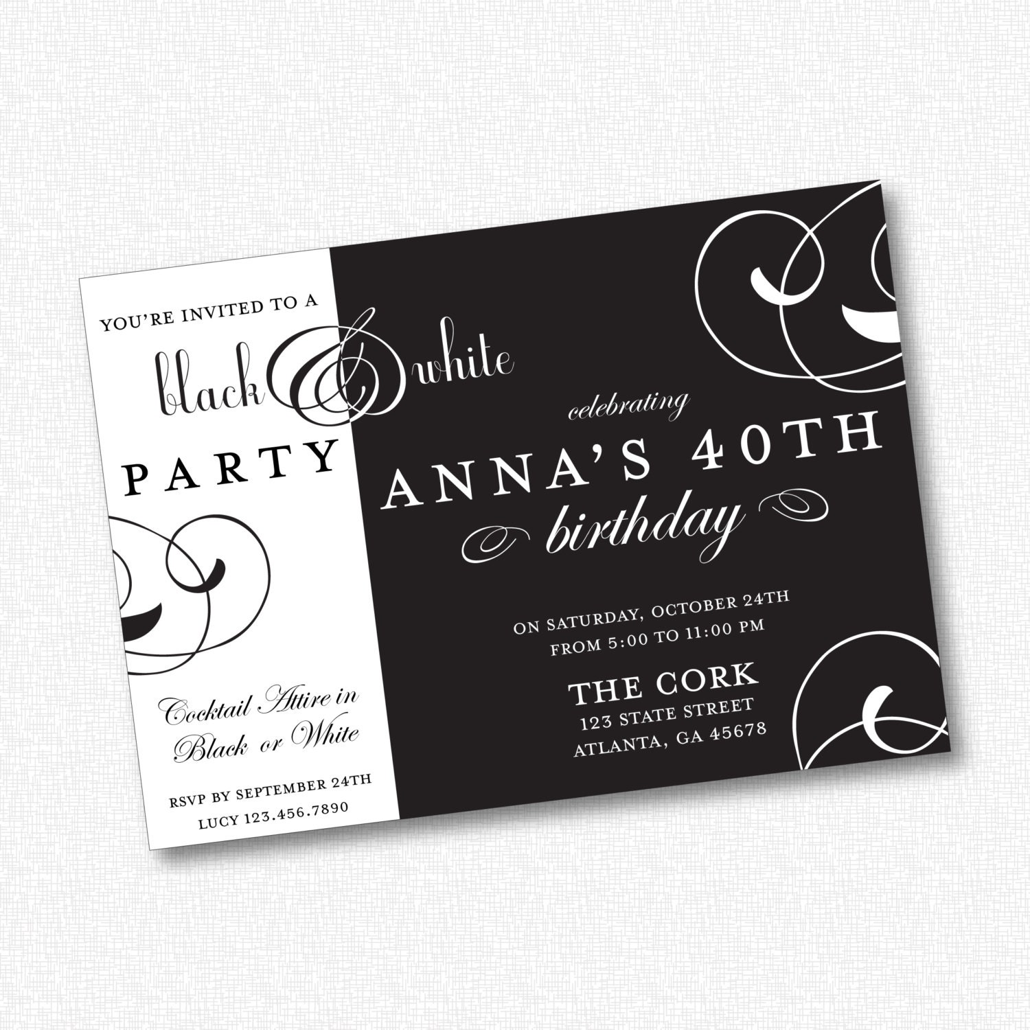 black and white theme invitation wording 28 images black and
