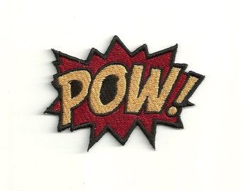 Super Hero, POW Patch! Any Color Combo! Custom Made! F11