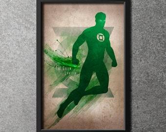 Original Giclee Art Print 'The Green Lantern'