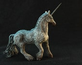 Unicorn Horse Skulpture Figurine Art Fantasy Animals new year, Christmas, year of the horse, holiday, interior decoration, gift