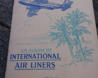Vintage Album of John Players & Sons cigarette cards 1930s-International Air Liners