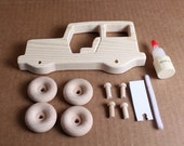 Handcrafted Large Wooden Jeep Kit  105K