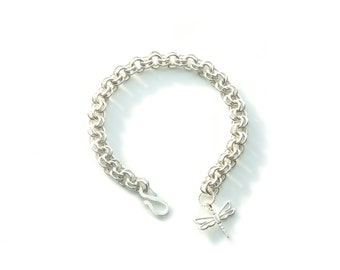 2-in-2 Sterling Silver Chainmaille Bracelet