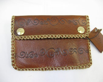 Leather anti-theft wallet