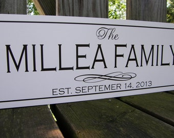 Personalized Wedding Gift, Family Established Sign, Wood sign with established date, personalized wedding gift, anniversary, engagement