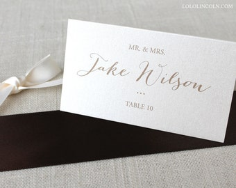 Katherine Calligraphy Wedding Place Cards DEPOSIT to get started