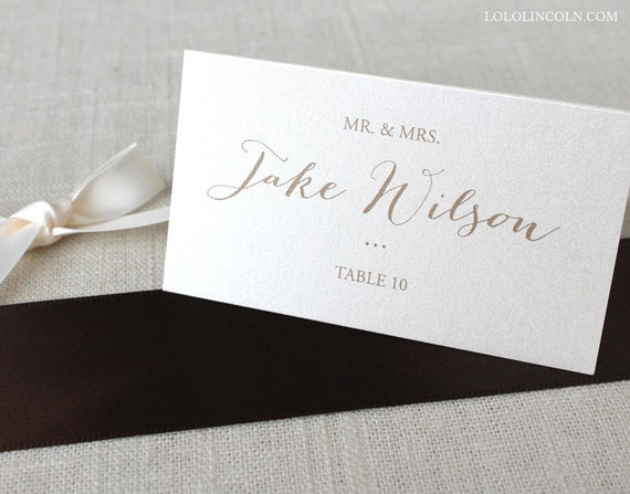 Katherine Calligraphy Wedding Place Cards Deposit By