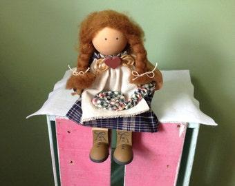 Vintage Wood Doll by Ladies and Friends 1987