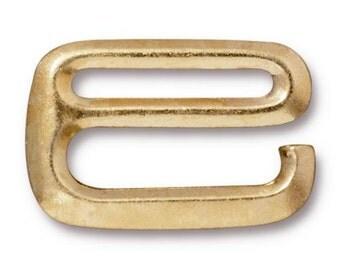 "SALE: TierraCast 1/2"" E Hook Clasp- GOLD"