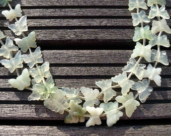 New Jade 20-24mm butterflies beads (ETB00312)