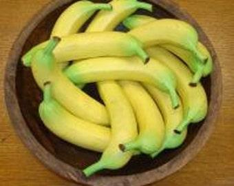 1 Dozen Designer Quality Artificial Fruit Bananas Free Shipping