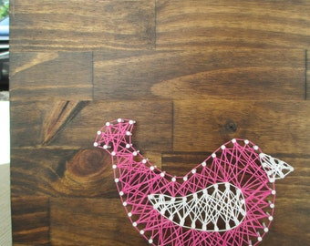 String Art Bird, Nail and String Art, Nursery Decor