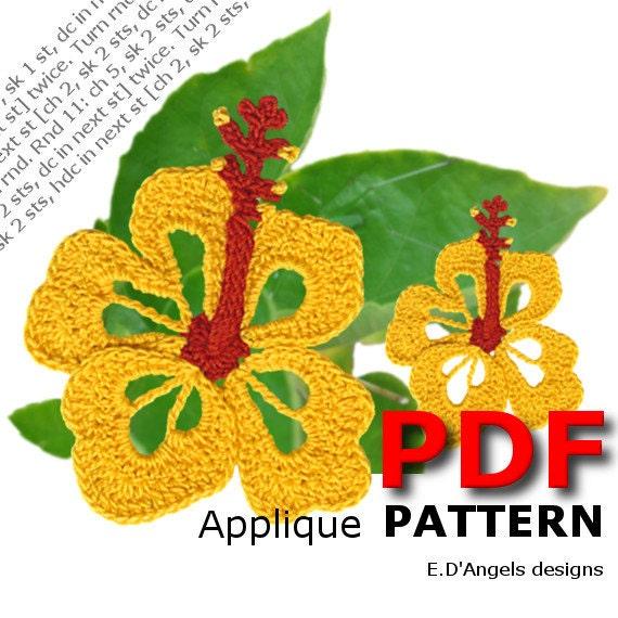 Crochet Flower Shirt Pattern : Crochet Crochet pattern Applique pattern Crochet