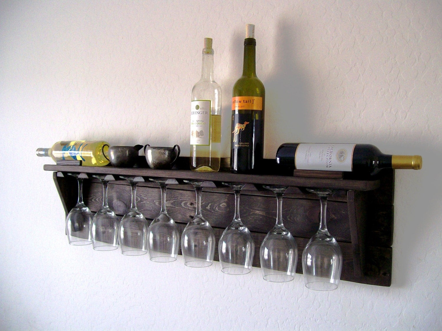 Reclaimed Wood Wine Cabinet Unique Wine Rack Etsy