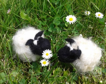 2 Sheeps,needel felted, felted