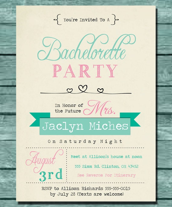 Bachelor Invites with perfect invitations ideas