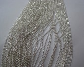 MDA-04 1M Silver 1.0MM Tiny Beads Without Facets Chain Shape Metal Nail Decoration
