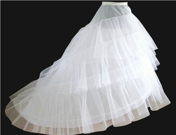 net white wedding Petticoats