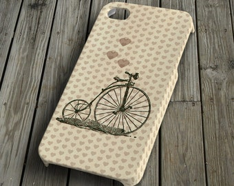 Bicycle with heart - beige - iPhone 4/4S Case - iPhone 4/4S Cover - Plastic iPhone 4/4S Case