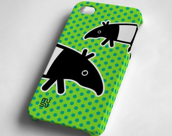 Tapir (green or blue) - iPhone 4 4S Case - IP4 IP4S Cover - Plastic iPhone4 Case