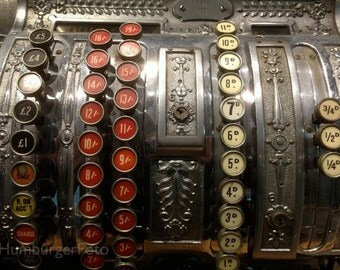 Cash register.  Art photography, antique register, Heinz Nixdorf Computer Museum, Paderborn, Germany