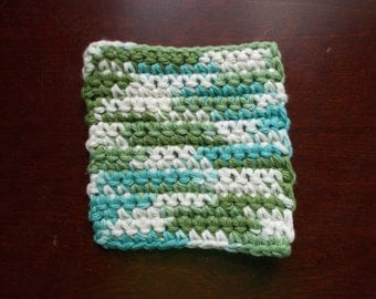 Sale !!! 20% Off -- Face Scrubby- Green, Cream & Teal ( Set of 2 )