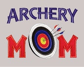 Machine Embroidery Applique Archery Mom Bull's Eye - INSTANT DOWNLOAD